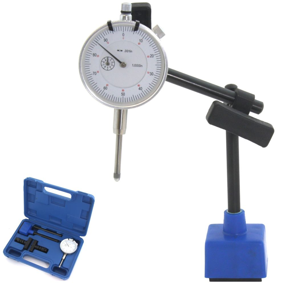 Bundle NORTOOLS 0-1 AGD SPEC 0.001 Dial Indicator and Magnetic Base Bundle