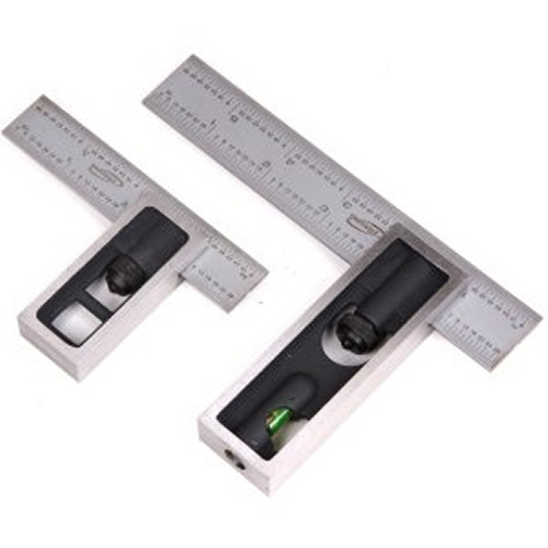 """PAIR 6/"""" /& 4/""""  High Precision DOUBLE SQUARE 4R Steel Blade Machinist Woodworking"""
